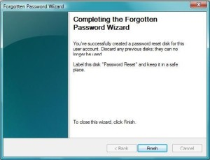 completing forgotten password wizard